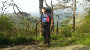 Me, on the Appalachian Trail, while healing from PF.