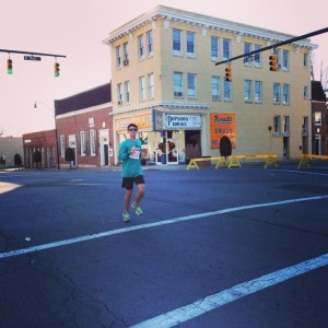 Alex Gaura running an 8k race in Wadesboro, NC