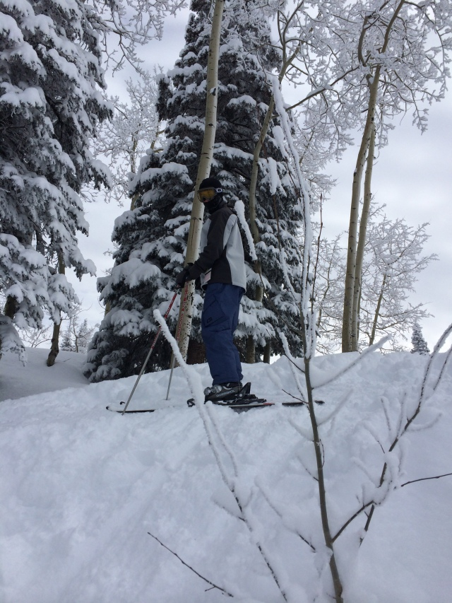 Alex Gaura, at the top of Steamboat in Colorado