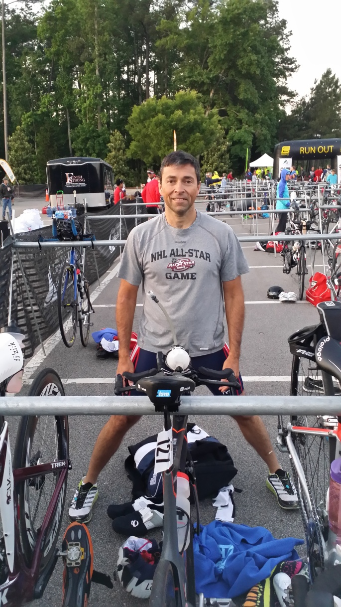 Jeff Gaura, preparing for the Duathlon Long Distance National Championship.