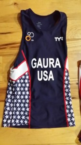 Jeff Gaura's TeamUSa jersey that he will wear the rest of the year.