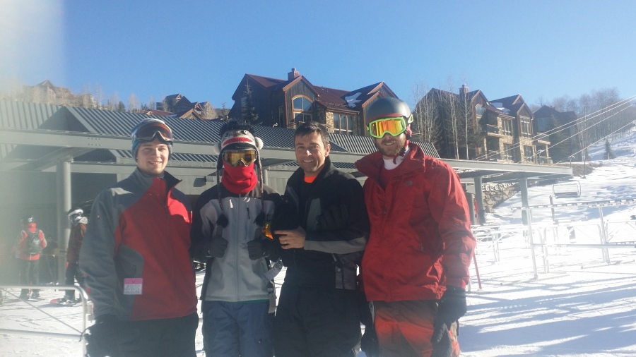 Jeff Gaura, Alex Gaura and Mike Larsson Skiing in Telluride, CO