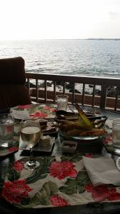 View of a meal, out of our Lanai, on the Big Island