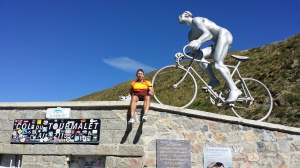 Jeff Gaura at the top of the Tourmalet