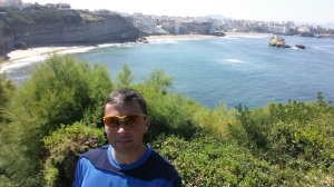 Jeff Gaura on the coastal cliffs of Biarritz