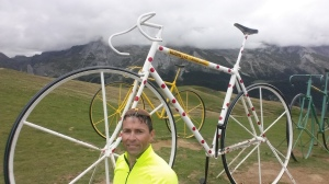 Jeff Gaura at the top of the Aubisque
