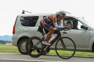 Jeff Gaura, cycling at the Powerman Zofingen World Championships