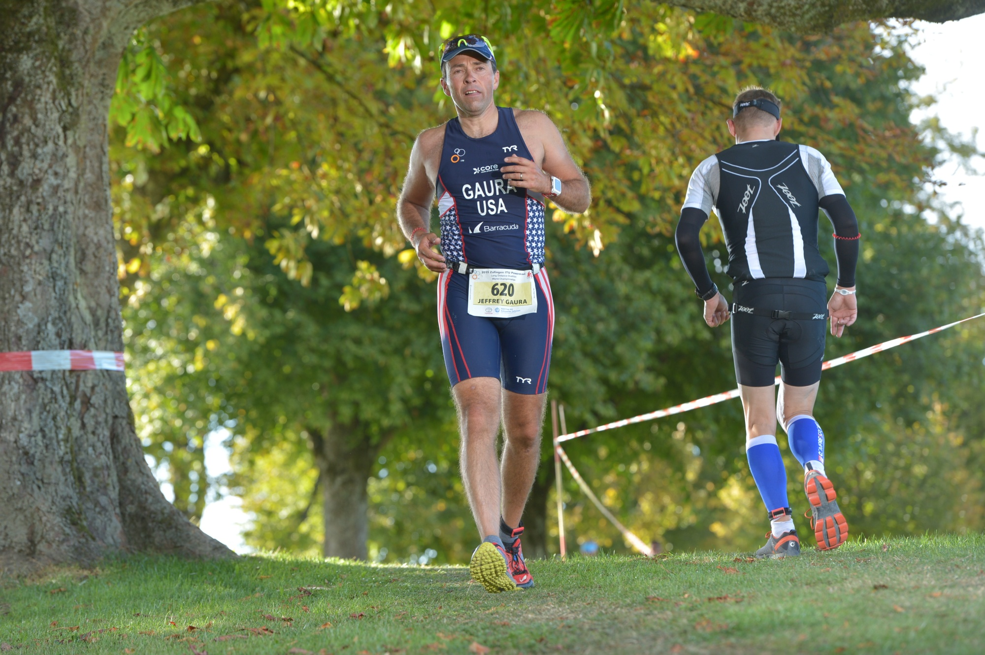 Jeff Gaura, running the final 18 miles at Zofingen.